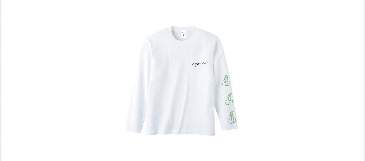 coguchi cherry long T-shirts (WH/GR)