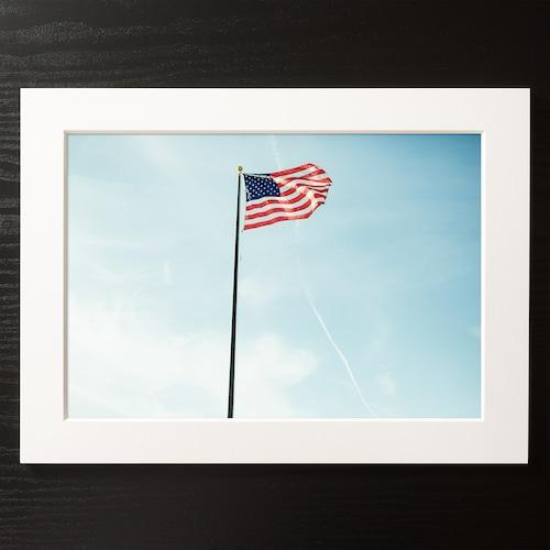 A4+α Size Paper frame「Sunset Flag」