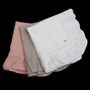 Cotton frill cushion cover / コットン フリル クッションカバー