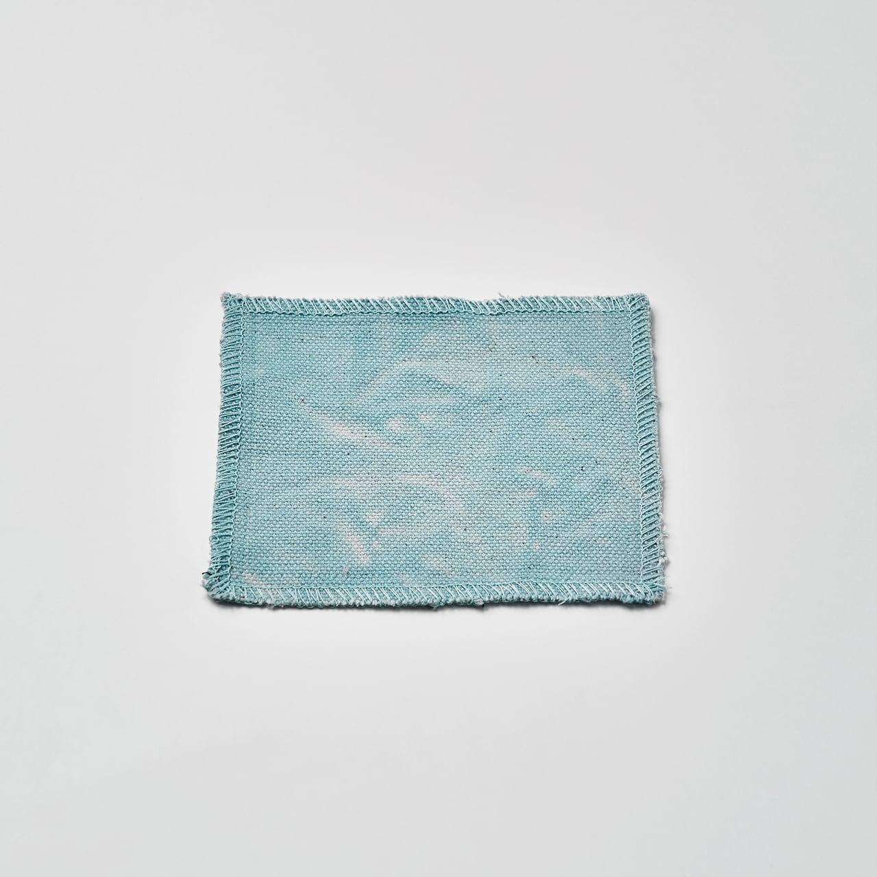 帆布で作ったコースター(グリーン) 10cm×10cm