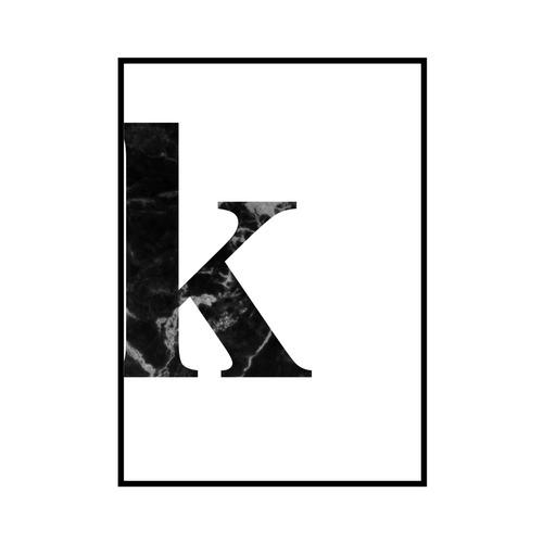 """k"" 黒大理石 - Black marble - ALPHAシリーズ [SD-000538] A4サイズ ポスター単品"