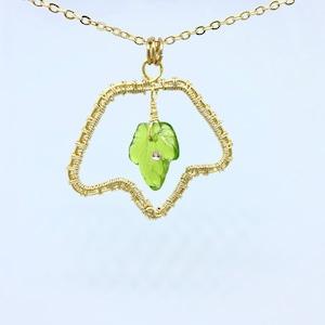 葉っぱのペンダント(緑)