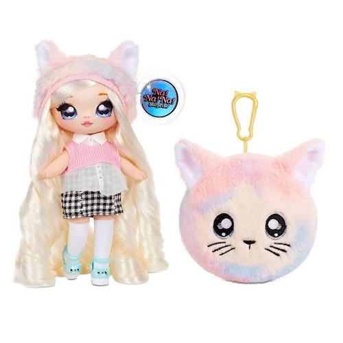 送料無料 Na! Na! Na! Surprise 2-in-1 Fashion Doll and Plush Purse Series 4 – Paula Purrfect