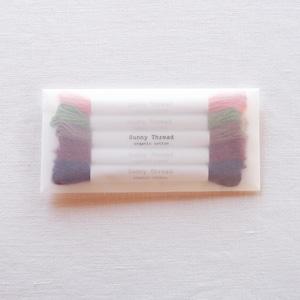 New colors 5本セット #21~#25 オーガニックコットン  刺繍糸