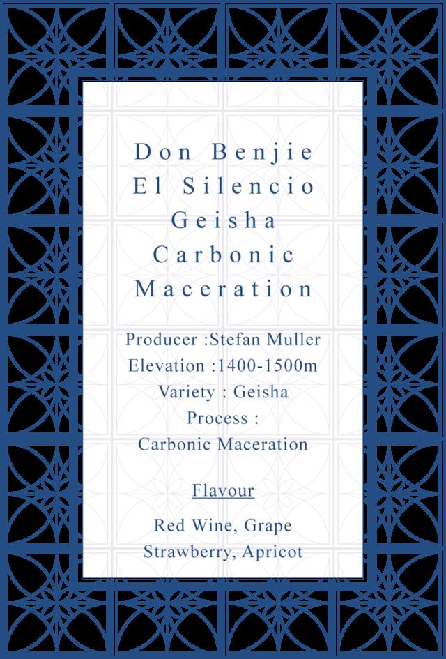 Don Benjie Geisha Carbonic Maceration