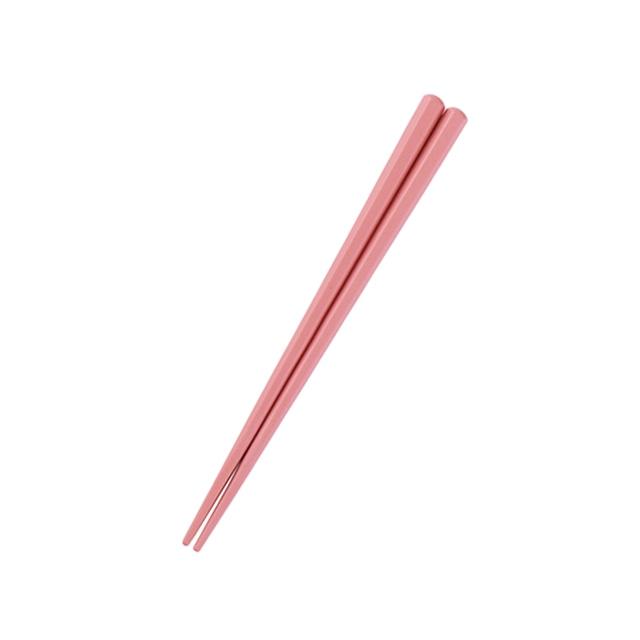 六角形16cm箸 ピーチ【OGH-1PE】