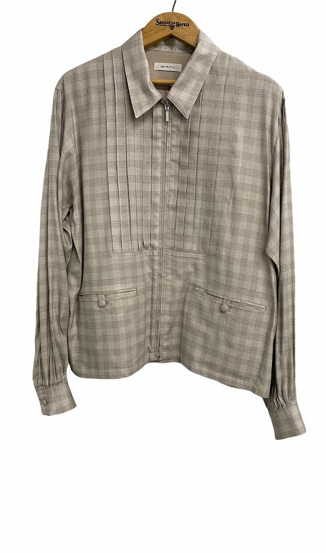 MATSUFUJI / Flannel Check Pleats Jacket(BEIGE)