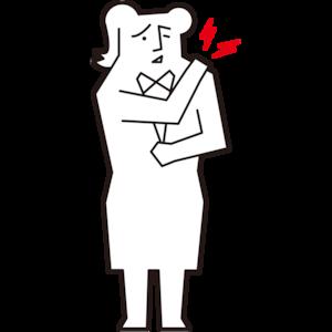 肩が痛い女性会社員