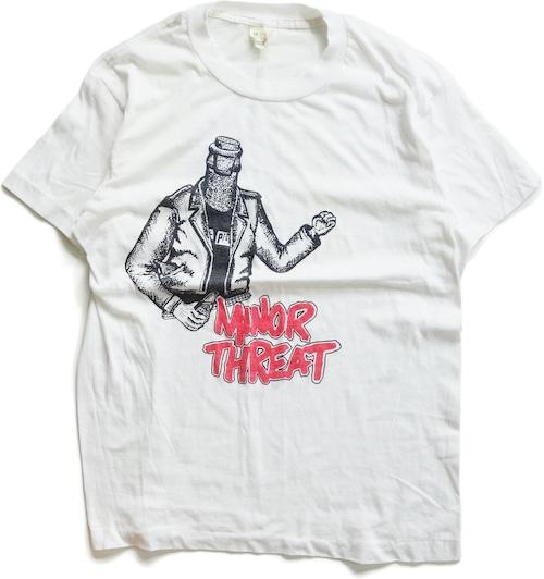 80年代 マイナー・スレット バンド Tシャツ 【M】   MINOR THREAT イアン・マッケイ ヴィンテージ 古着