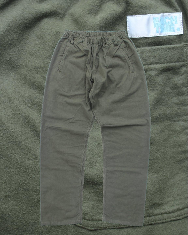 "EACHTIME. Easy Pants ""Vintage Flannel"" Olive"