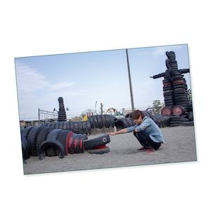 ポストカード「足跡①」