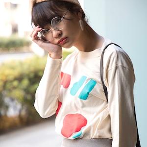 まるまる図形ロングスリーブTシャツ 3色展開 Sサイズ