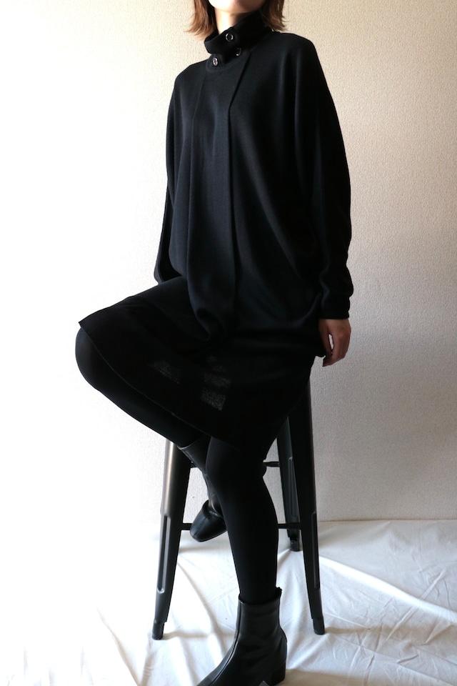 Vintage black knit design dress