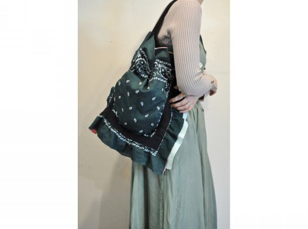 【RehersalL】bandanna bag(46)/【リハーズオール】バンダナバッグ(46)