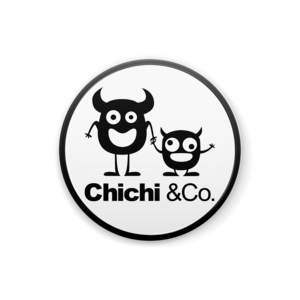 Chichi &Co. 缶バッチ 25mmホワイト