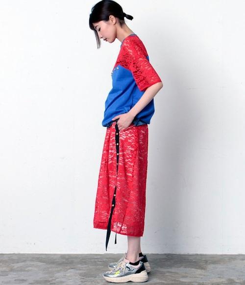 FLUMOR  Import race side sutuds skirt