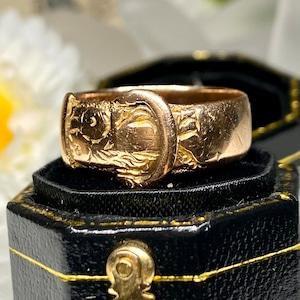 1918年製 buckle ring イギリス アンティーク バックルリング