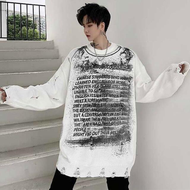 【トップス】図柄ファッションストリート系男女兼用長袖シンプルTシャツ53391264