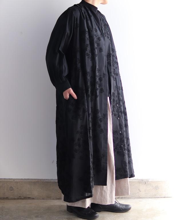 フェンネル刺繍ドレスコート (evi622  BLK・ブラック)
