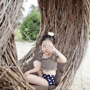 子供水着 キッズ水着 ビキニ 女児 女の子水着 タンキニ ジュニアスイミング ウェア セパレート水着9332