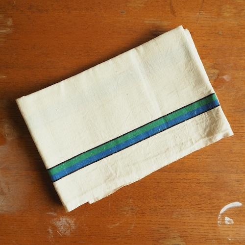青と緑のライン入り デッドストックのトルション