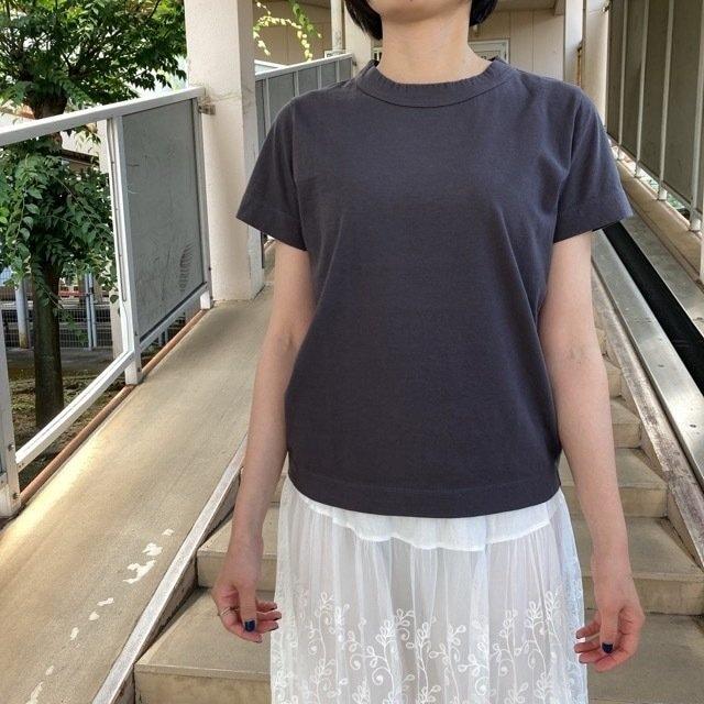 homspun (ホームスパン) 天竺半袖Tシャツ グレー