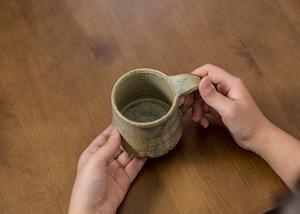 錆浅葱マグカップ(コーヒーカップ)/吉永哲子