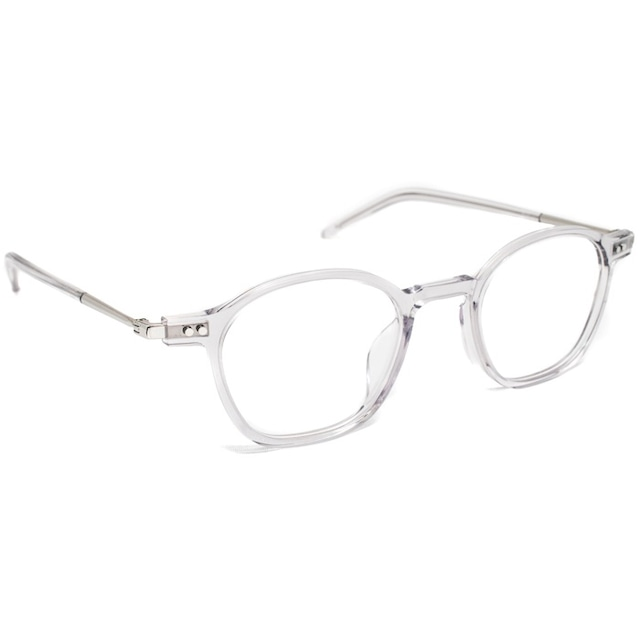 NEW.(ニュー) 眼鏡 (サングラス) 【WHITE C-3】【clear grey silver】