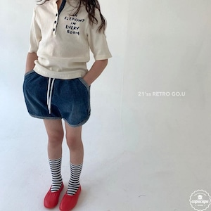 «sold out» go.u piping short pants パイピングショートパンツ