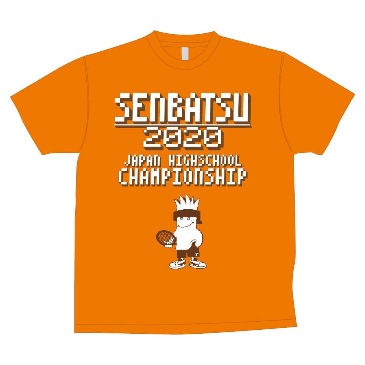 2020年全国高校選抜テニス大会TOALSONオリジナルTシャツ(蛍光オレンジ) 【1ET2001】