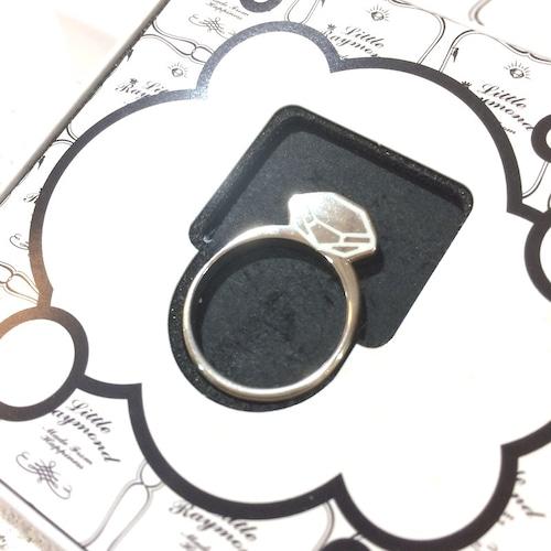 LITTLE RAYMOND FRAT RING ダイヤモンド シルバー