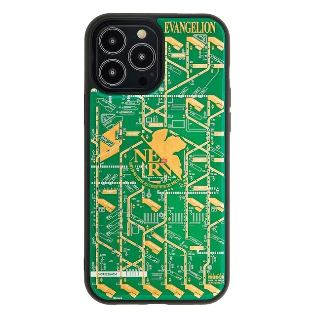 FLASH NERV 基板アート iPhone 13 Pro Maxケース 緑 【東京回路線図A5クリアファイルをプレゼント】