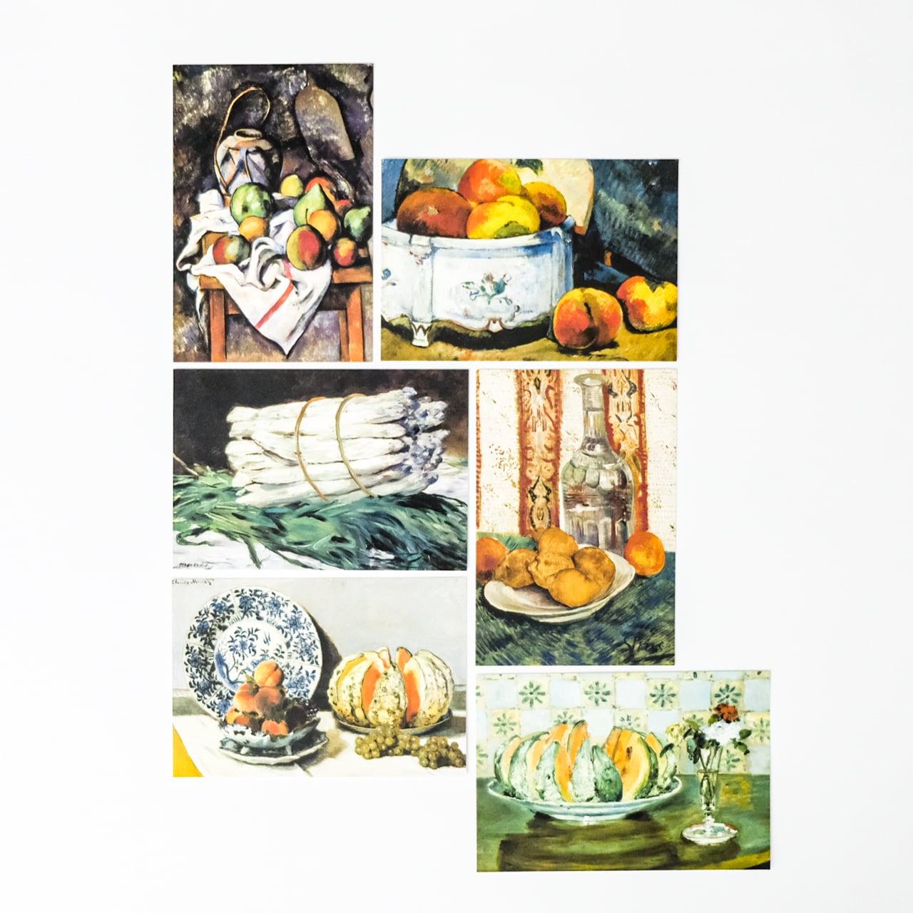 印象派 ポストカード6枚セット 静物画