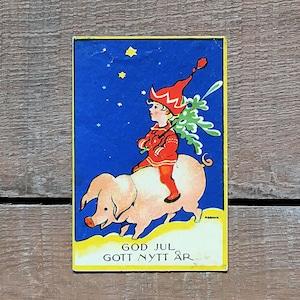 ミニ・クリスマスカード「Einar Nerman(エイナル・ネールマン)」《201204-01》