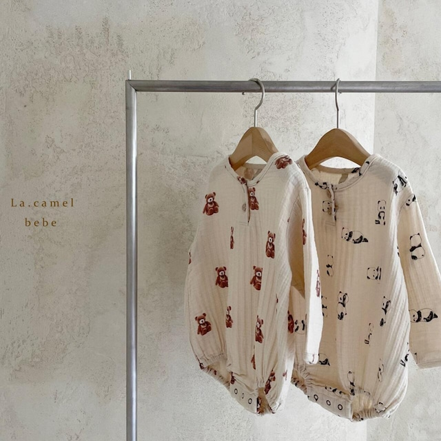 «sold out»«baby» La camel cosy suit コージロンパース