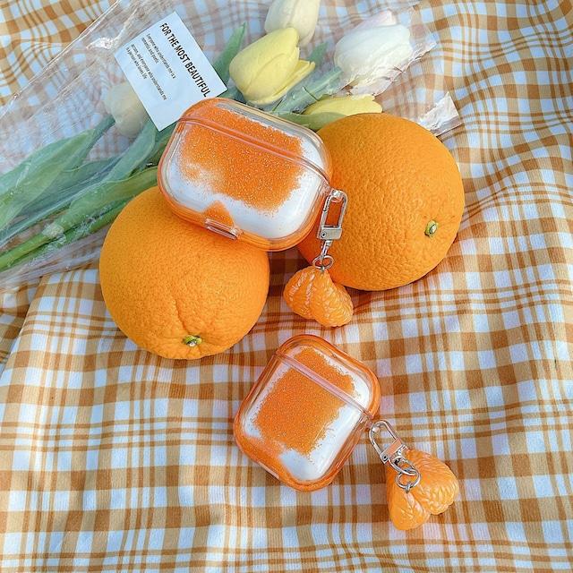 Orange glitter airpods case