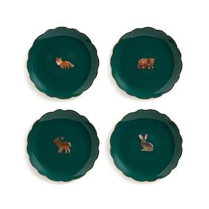 &k amsterdam - Plate - Forest animal set