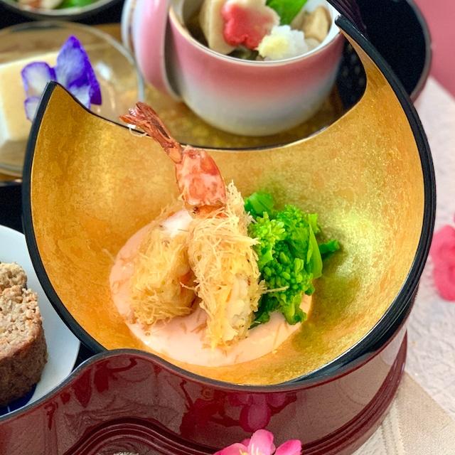 海老のカダイフ揚げ 柚子香るピンクソース