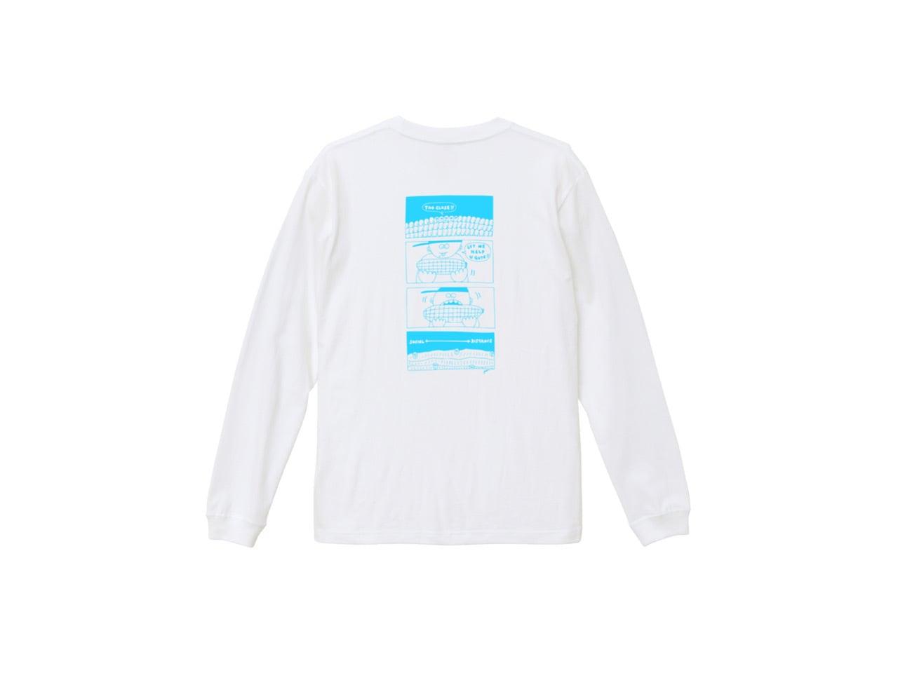 SHI × coguchi Corn SD long T-shirt (WH/LBL)
