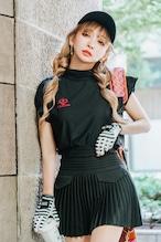 GOLF プリーツミニスカート BLACK