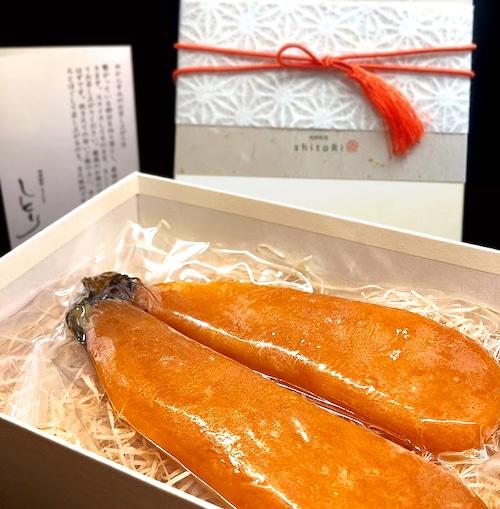 「からすみ 西京味噌仕立て」1腹 (2本) Lサイズ ※化粧箱付