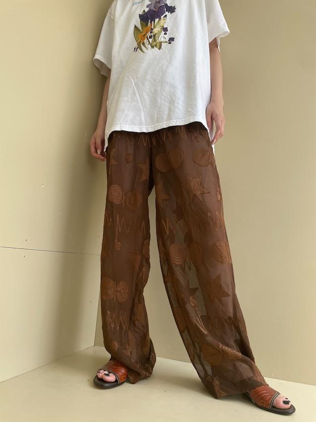 see-through design pants / 7SSPT30-01