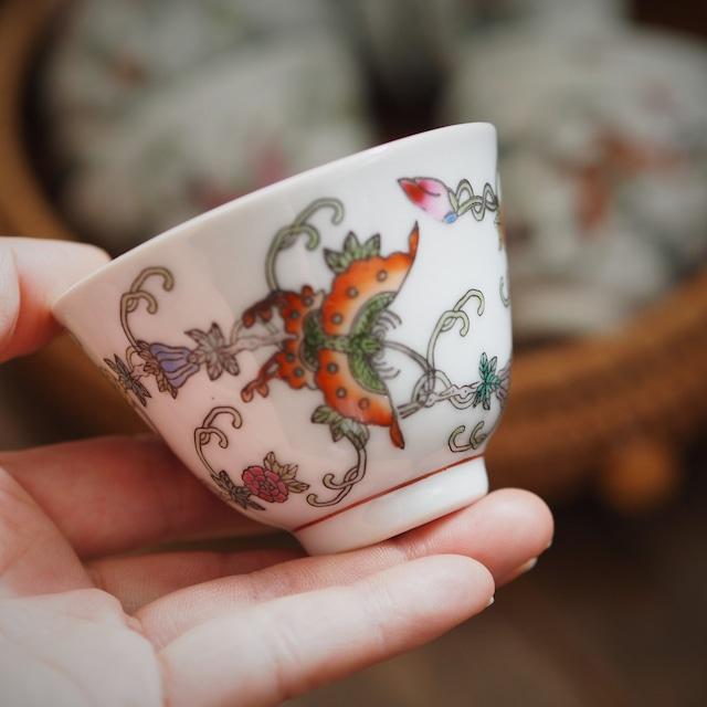『バタフライの茶杯/湯飲み』景徳鎮