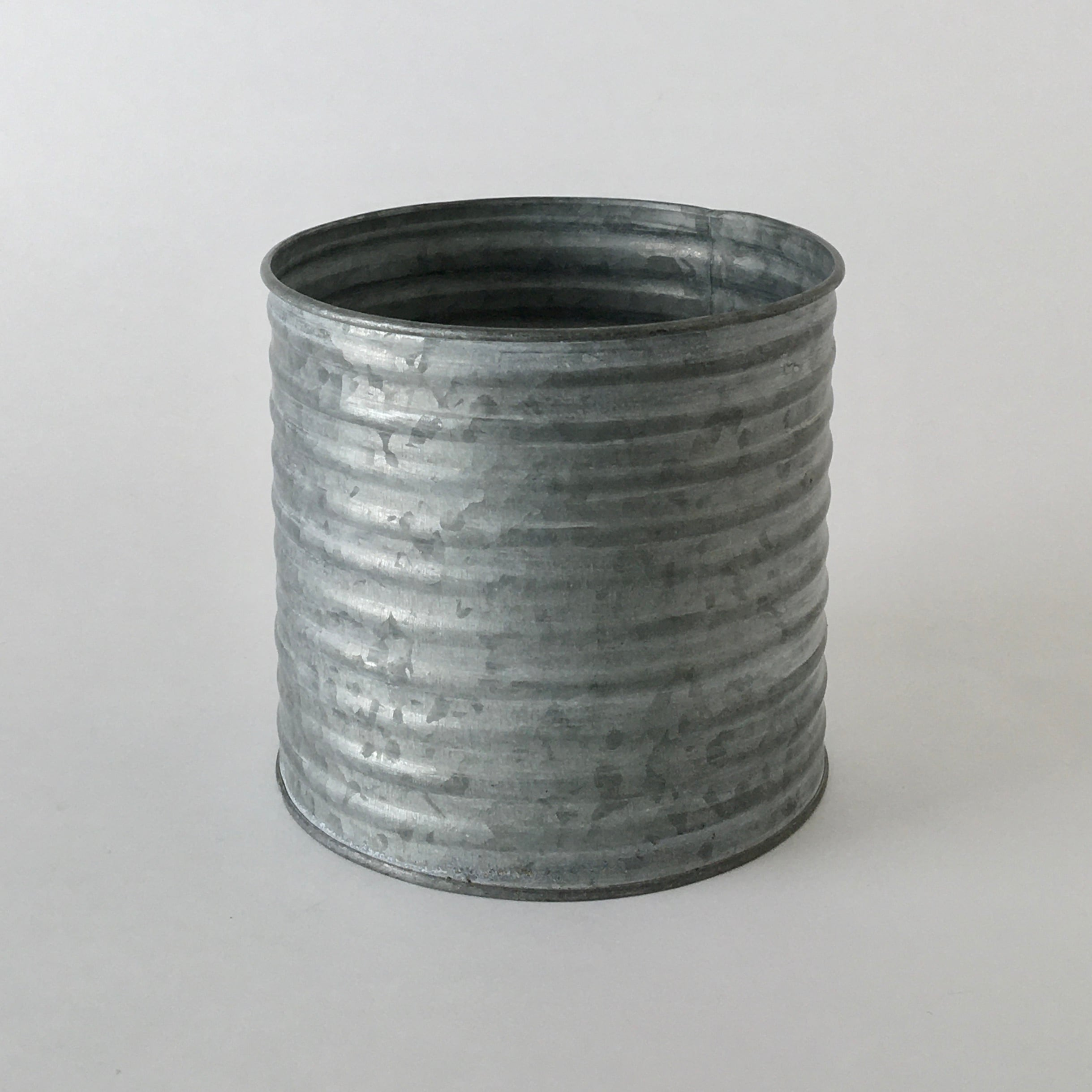 ブリキのポット 波型 L|Tin Pot Wave Shape L