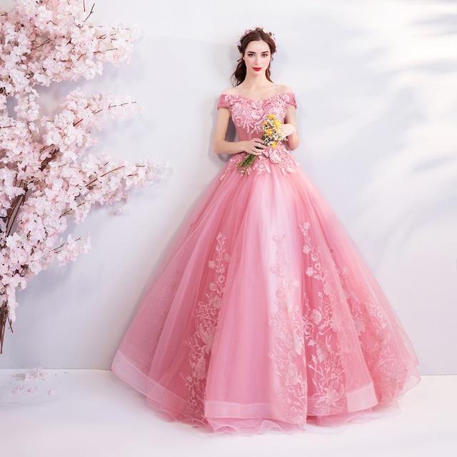 刺繍ロングドレス