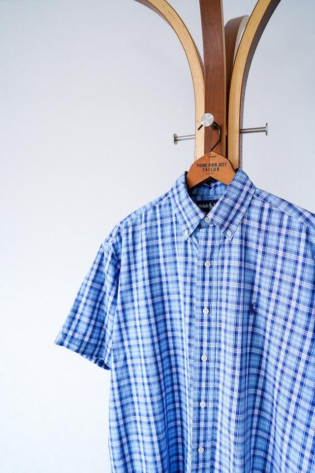 "【1990s】""Blake, Polo by Ralph Lauren"" Button-down Plaid Shirts / v650y"