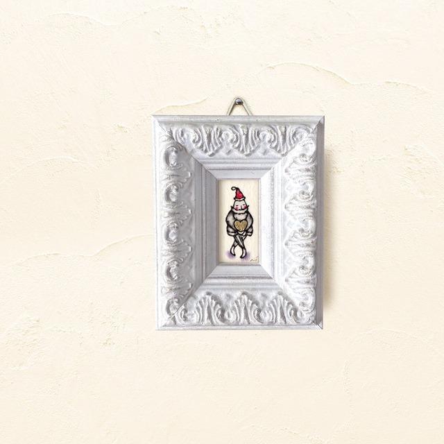 ミニ額 原画【 愛の配達人 】Xmas ver. / mini size frame