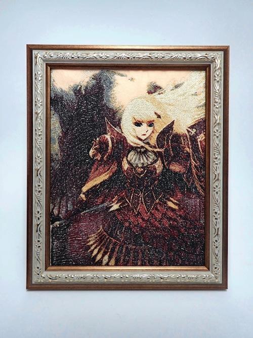 キャラ縫い額装刺繍 王女シャッフル「オクトカットフラリッシュ」