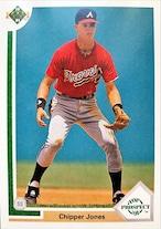 MLBカード 91UPPERDECK Chipper Jones #055 BRAVES