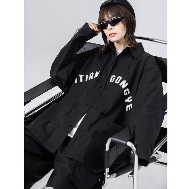 【匯田工業シリーズ】★シャツ★ トップス 男女兼用 メンズ ファッション 流行 アルファベット 大きいサイズ